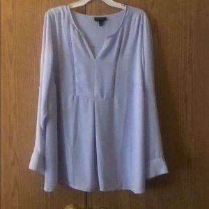Light blue plus size blouse